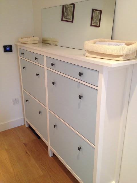 twinned HEMNES shoe storage cabinet