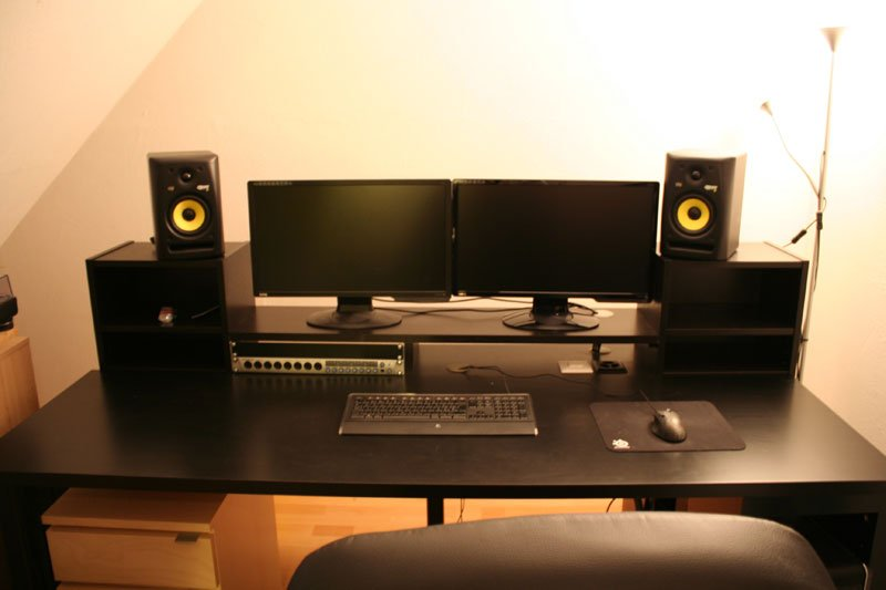 Music Producing Desk Ikea Hackers