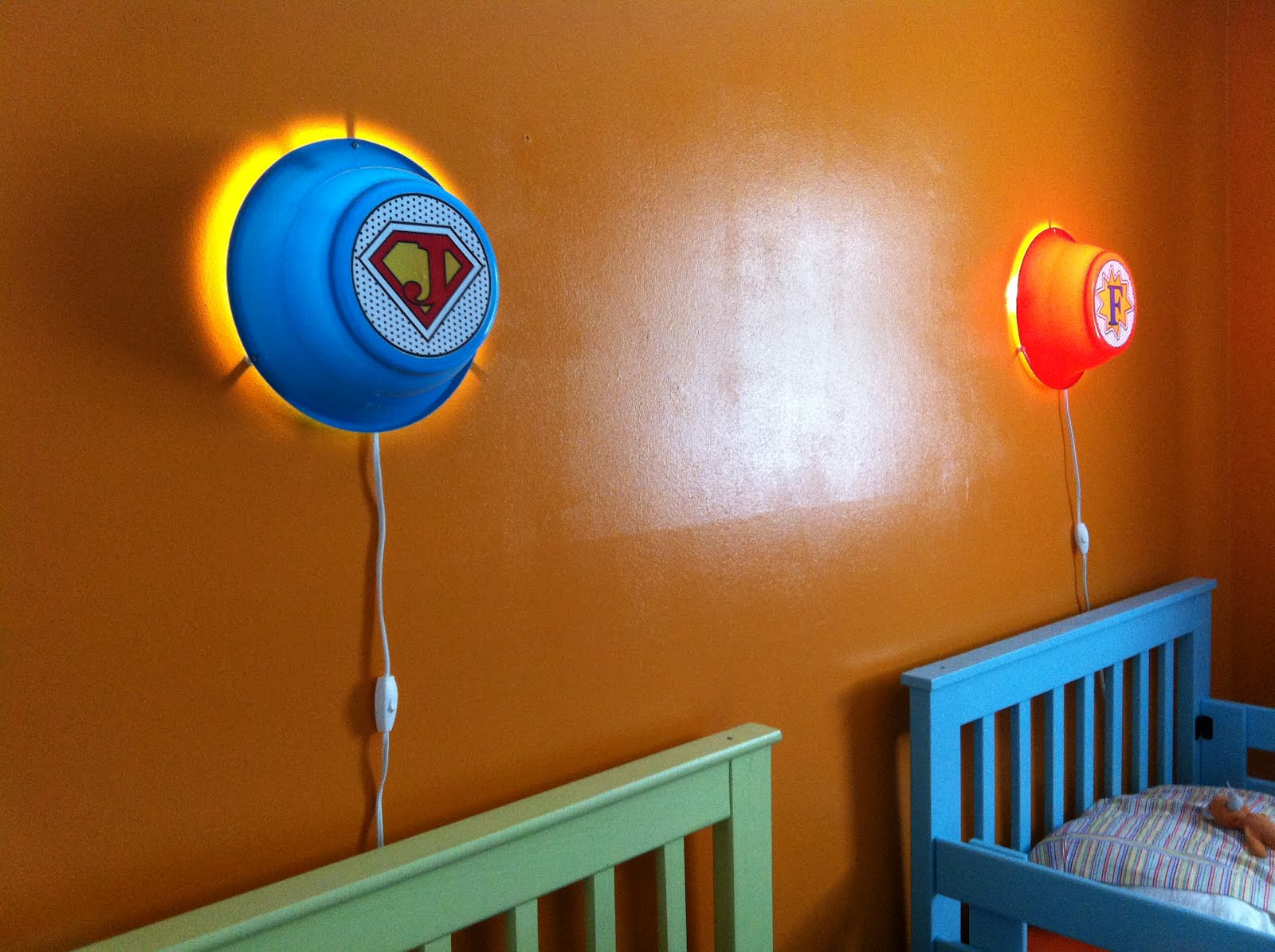 Smila Wall Lamps Into Custom Kids Super Hero Night Lights