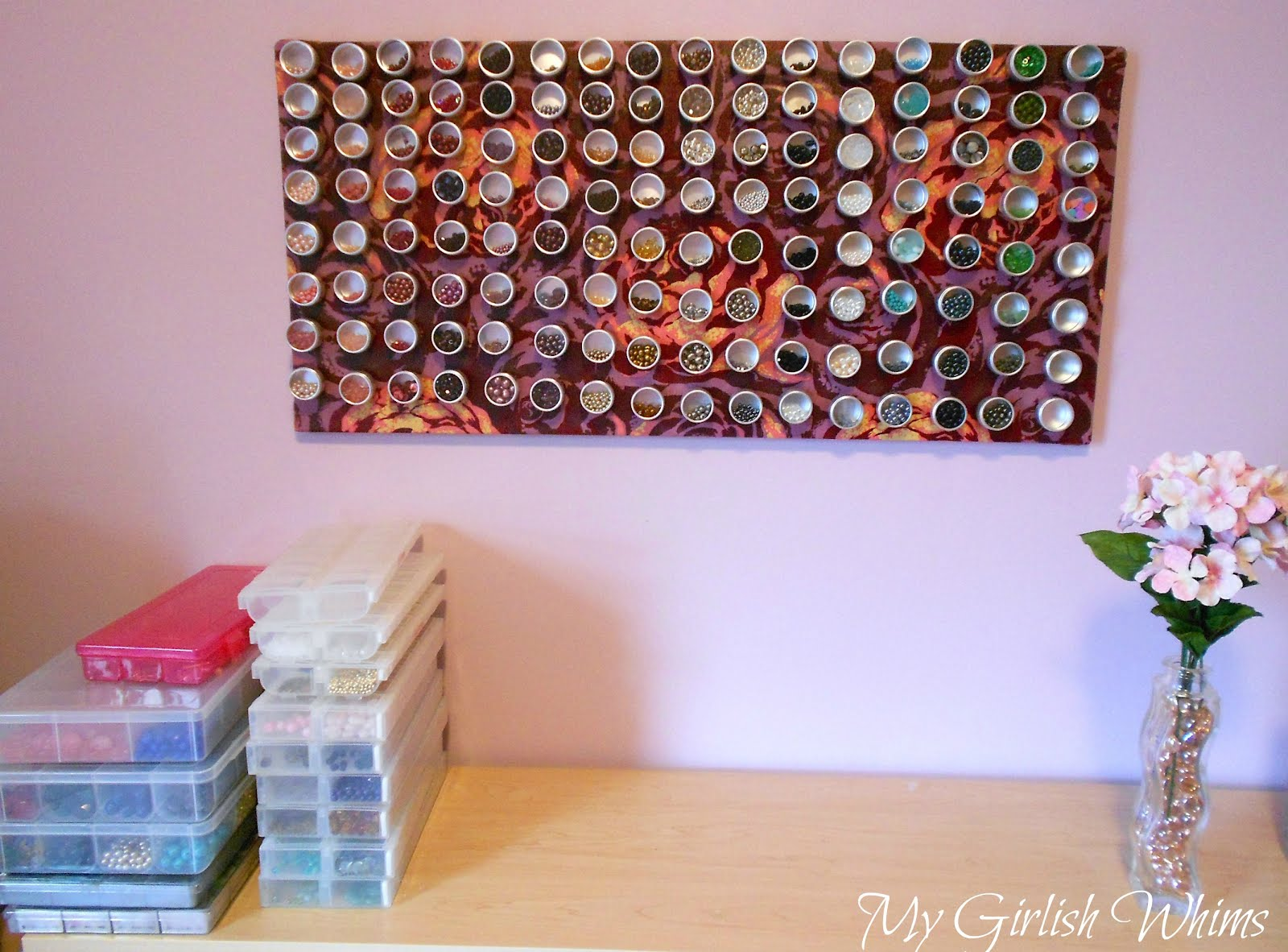 Fabric Covered Magnet Board For Bead Organization Ikea Hackers