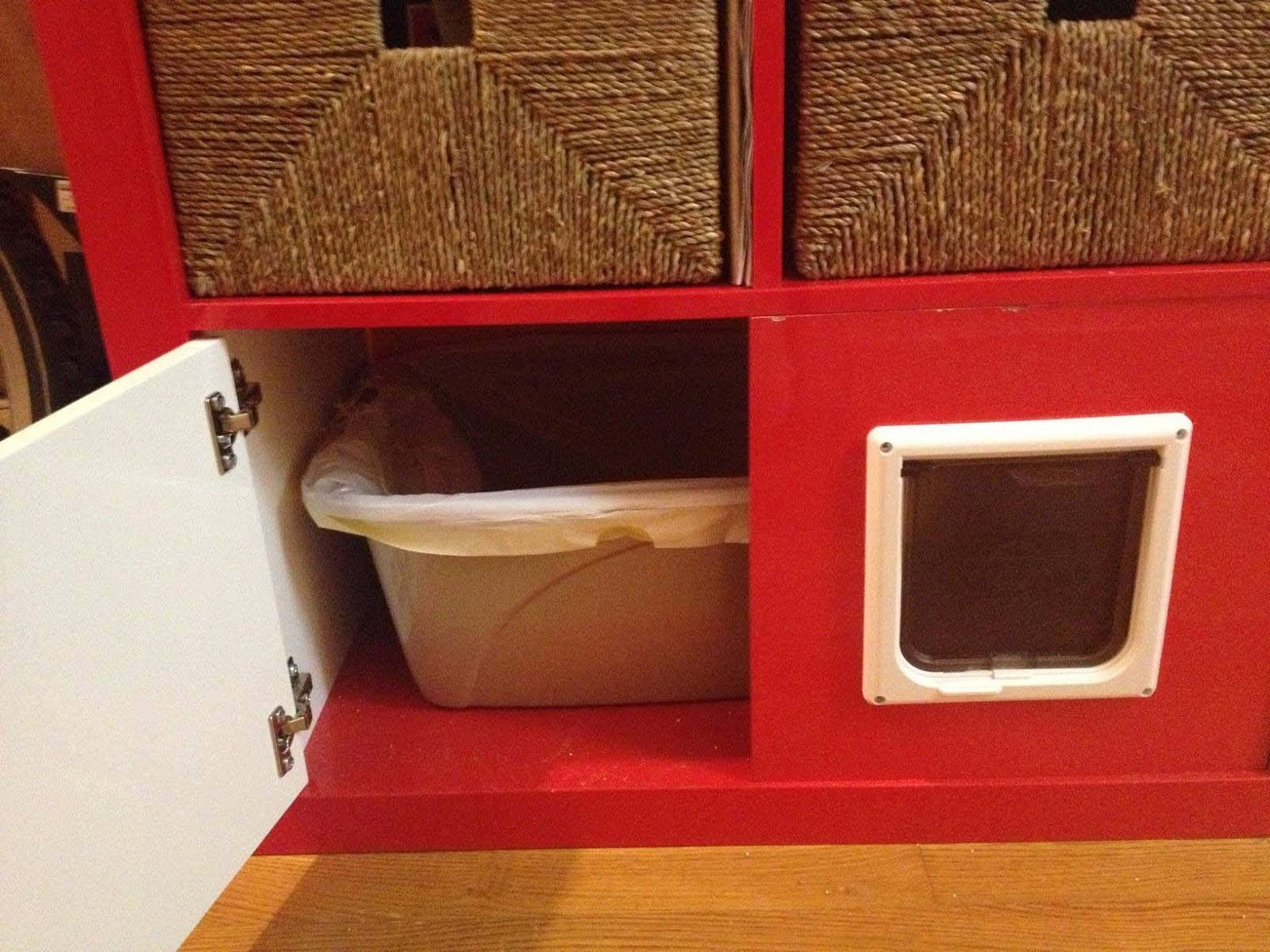 EXPEDIT shelving unit + total kitty litter disguise - IKEA Hackers - IKEA Hackers