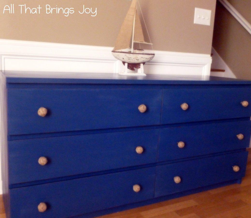 Malm  Drawer Dresser Goes Nautical Ikeaers Ikeaers