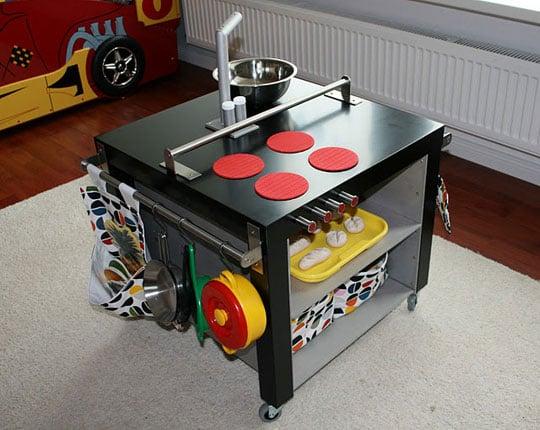 Lack grundtal kid 39 s kitchen ikea hackers ikea hackers - Table pour cuisine ikea ...