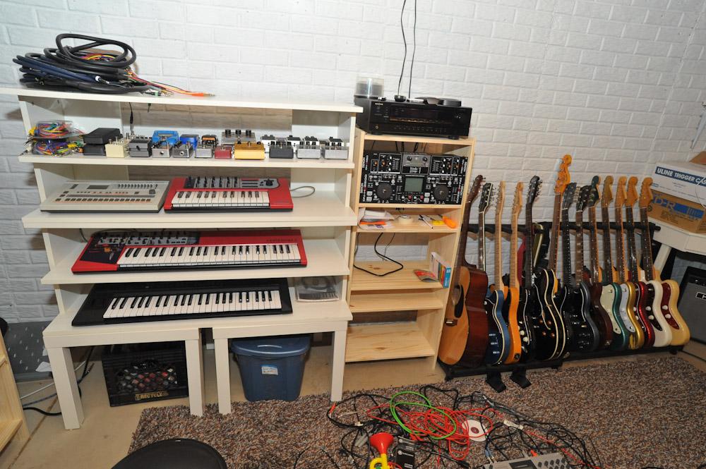 Basement music studio - IKEA Hackers