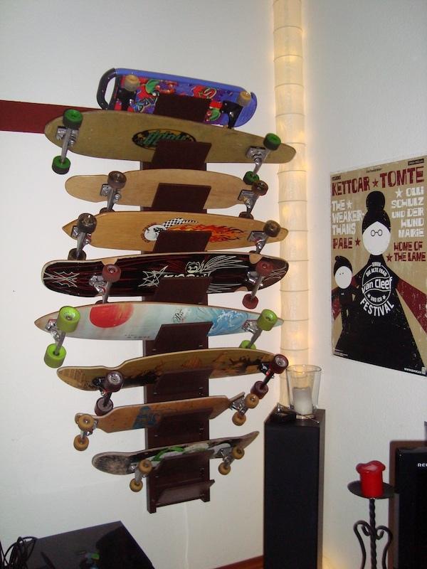 Skateboard Shelf longboard and skateboard shelf - ikea hackers - ikea hackers