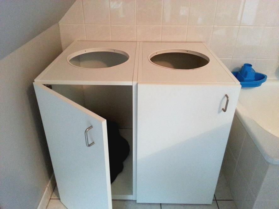 Laundry Organizer From Kitchen Cabinets