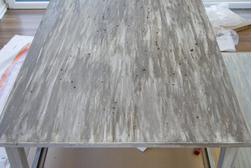 Diy Painted Driftwood Table