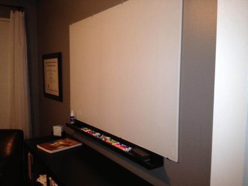 NOT Expensive Glass Whiteboard - IKEA Hackers - IKEA Hackers