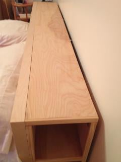 King size MALM bed with no headboard storage solutions available ...