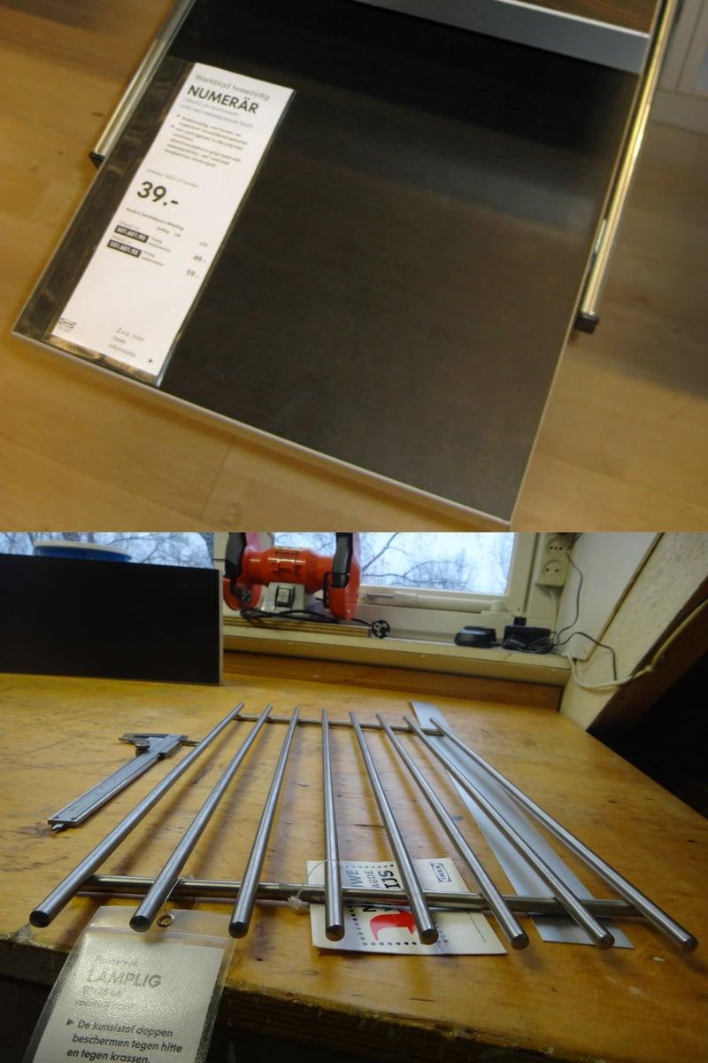 Numerar dining table ikea hackers ikea hackers - Turn A Trivet Into A Stylish Wine Glass Rack Ikea