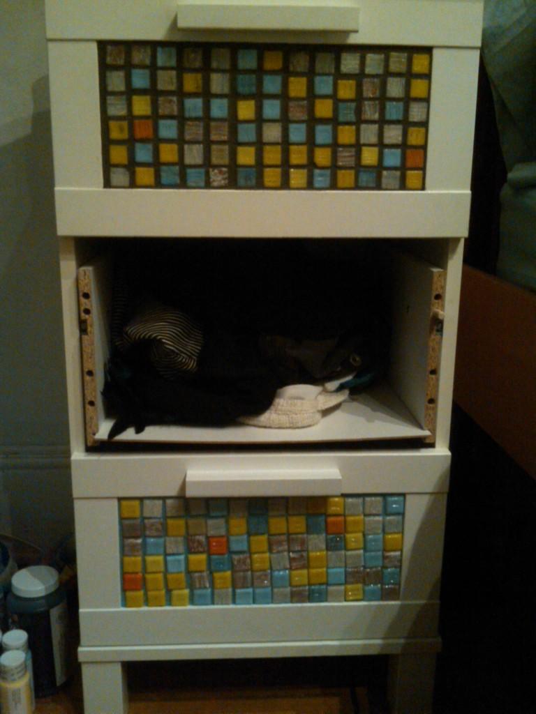 Ikea Aneboda Chest Of Drawers Used ~ Aneboda goes Mosaic  IKEA Hackers  IKEA Hackers