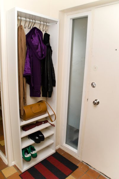 small space coat landing storage