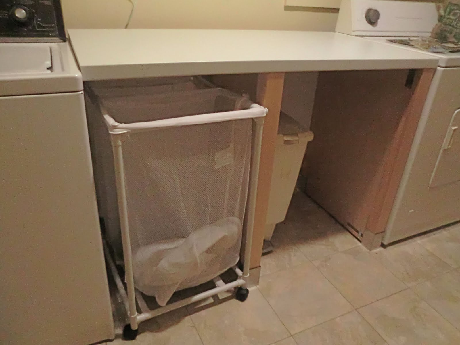 laundry folding station out of a dishwasher cabinet ikea hackers