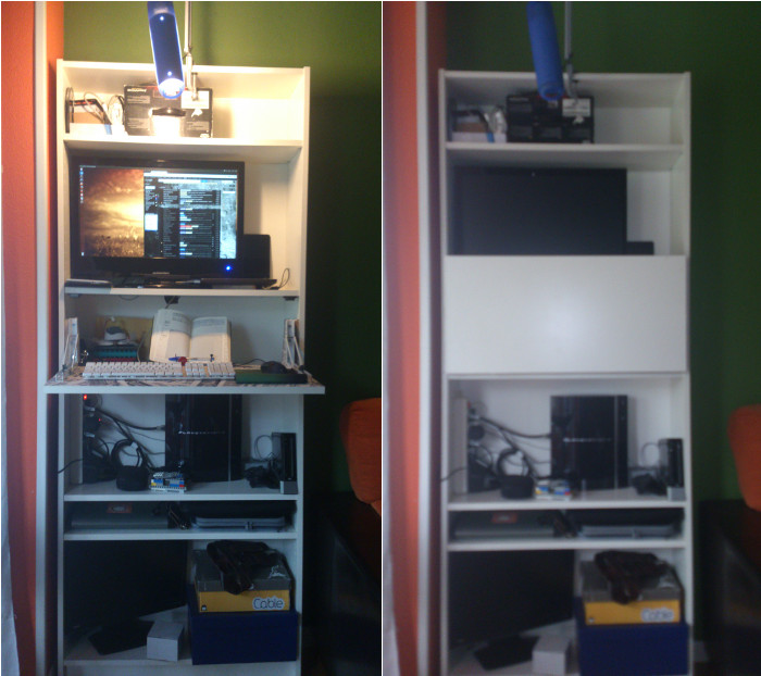 Stand up Billy bureau or mini bar IKEA Hackers IKEA Hackers