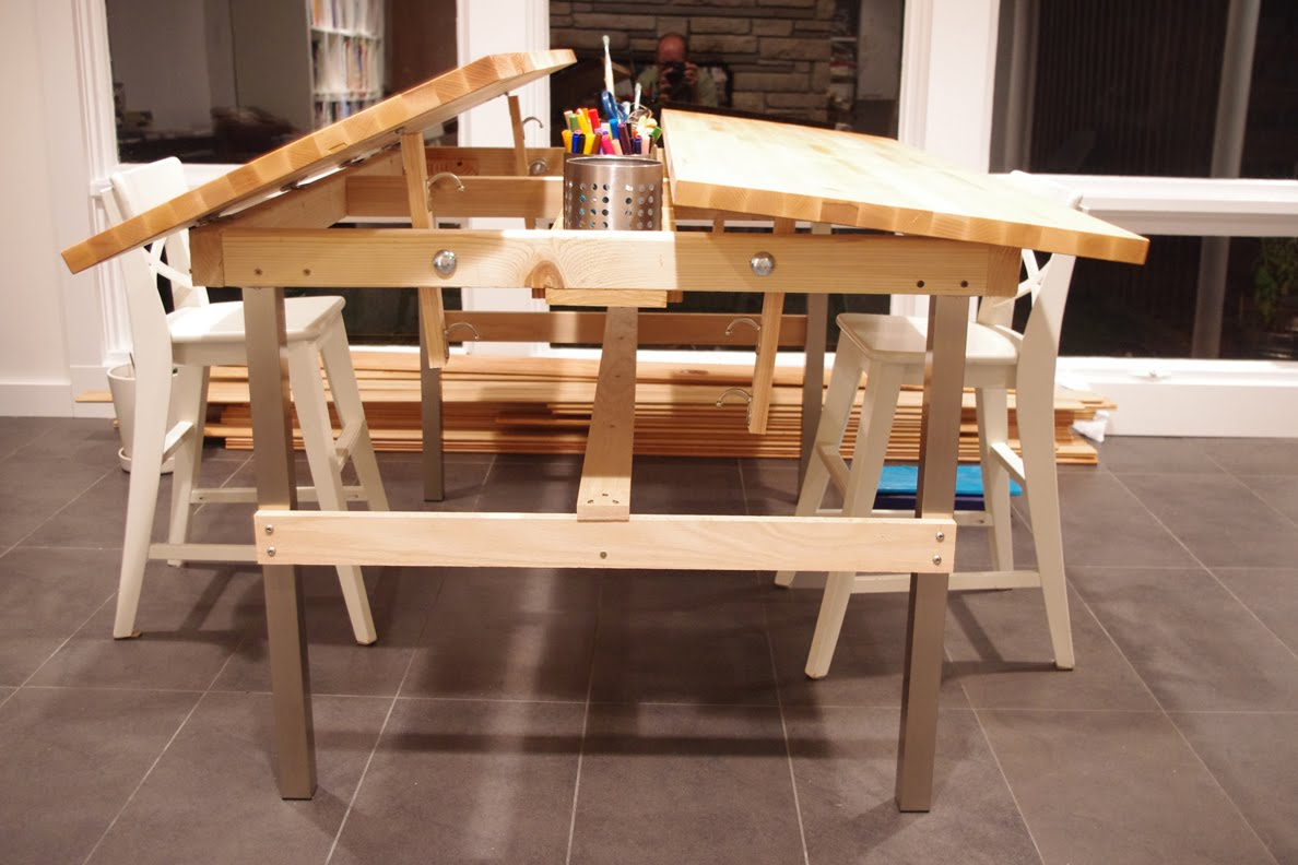 Multi-Kid Drafting Table - IKEA Hackers - IKEA Hackers