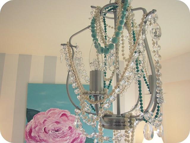 Ikea kristaller chandelier gets a little glamorous ikea hackers aloadofball Gallery
