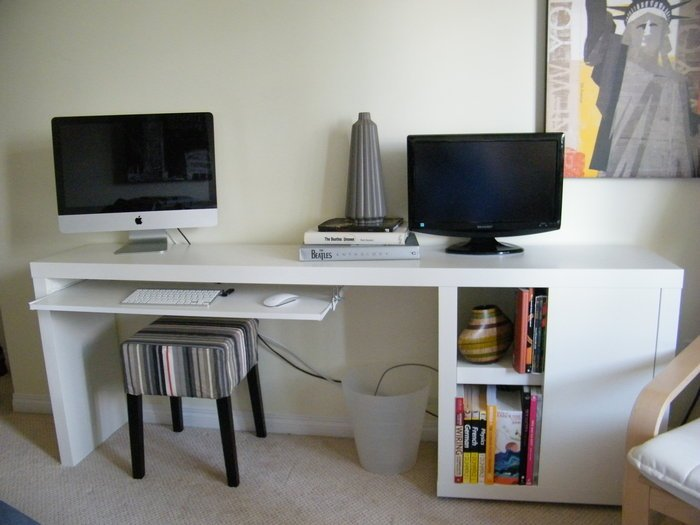 Slim Desk Ikea Hackers
