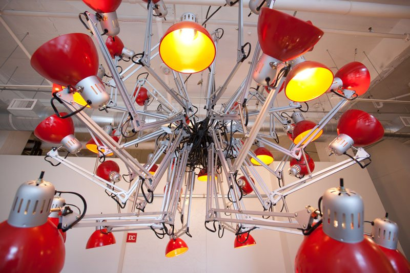 contemporary chandelier IKEA hack