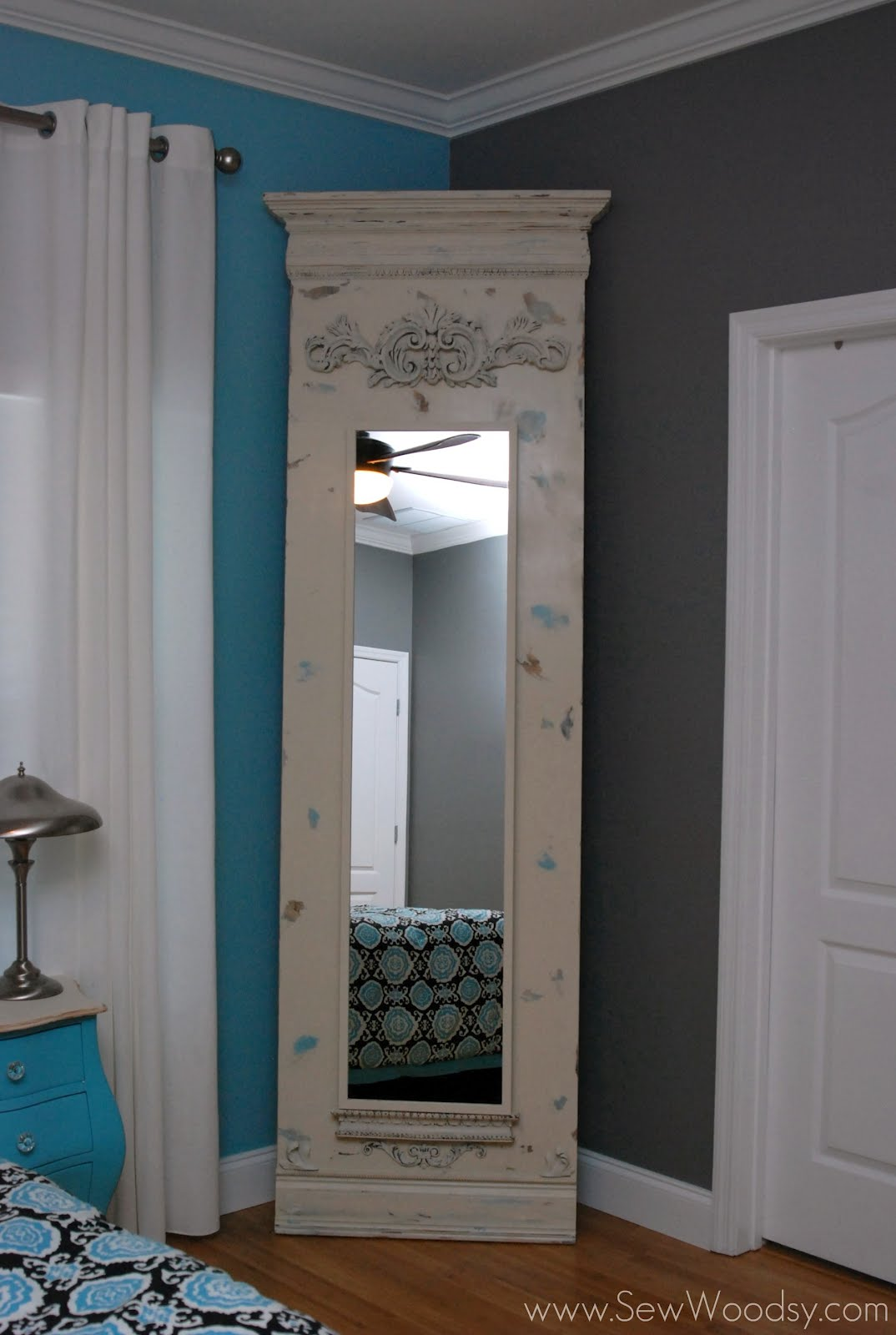 DIY Trumeau Floor Mirror Using Ikea STAVE IKEA