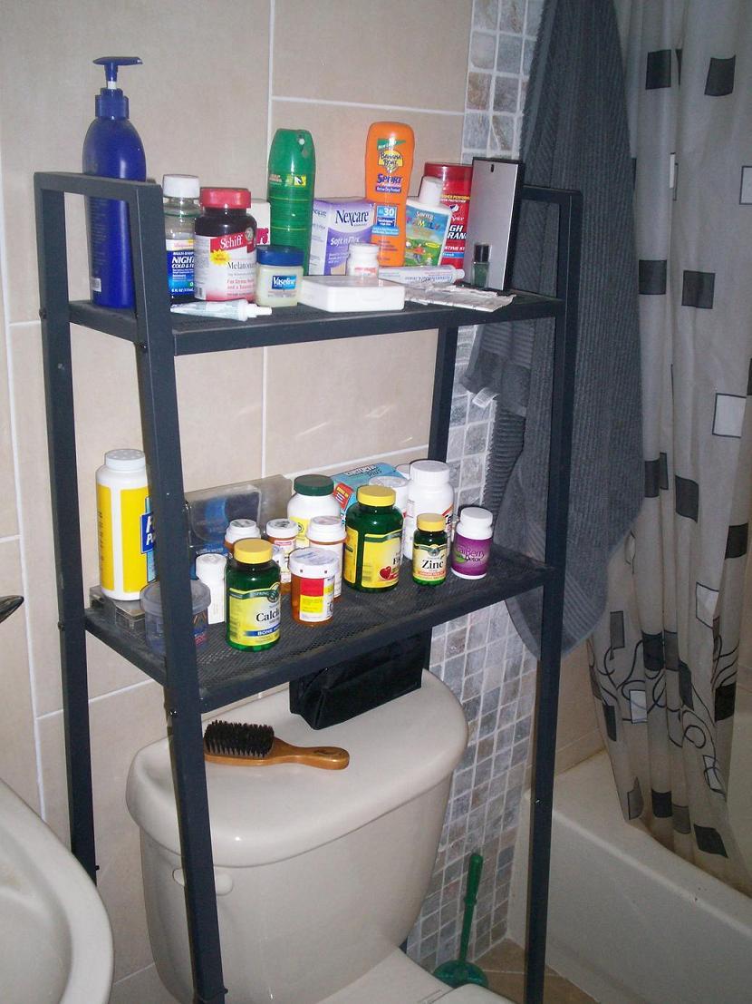 Lerberg Shelf Into Storage Over Toilet