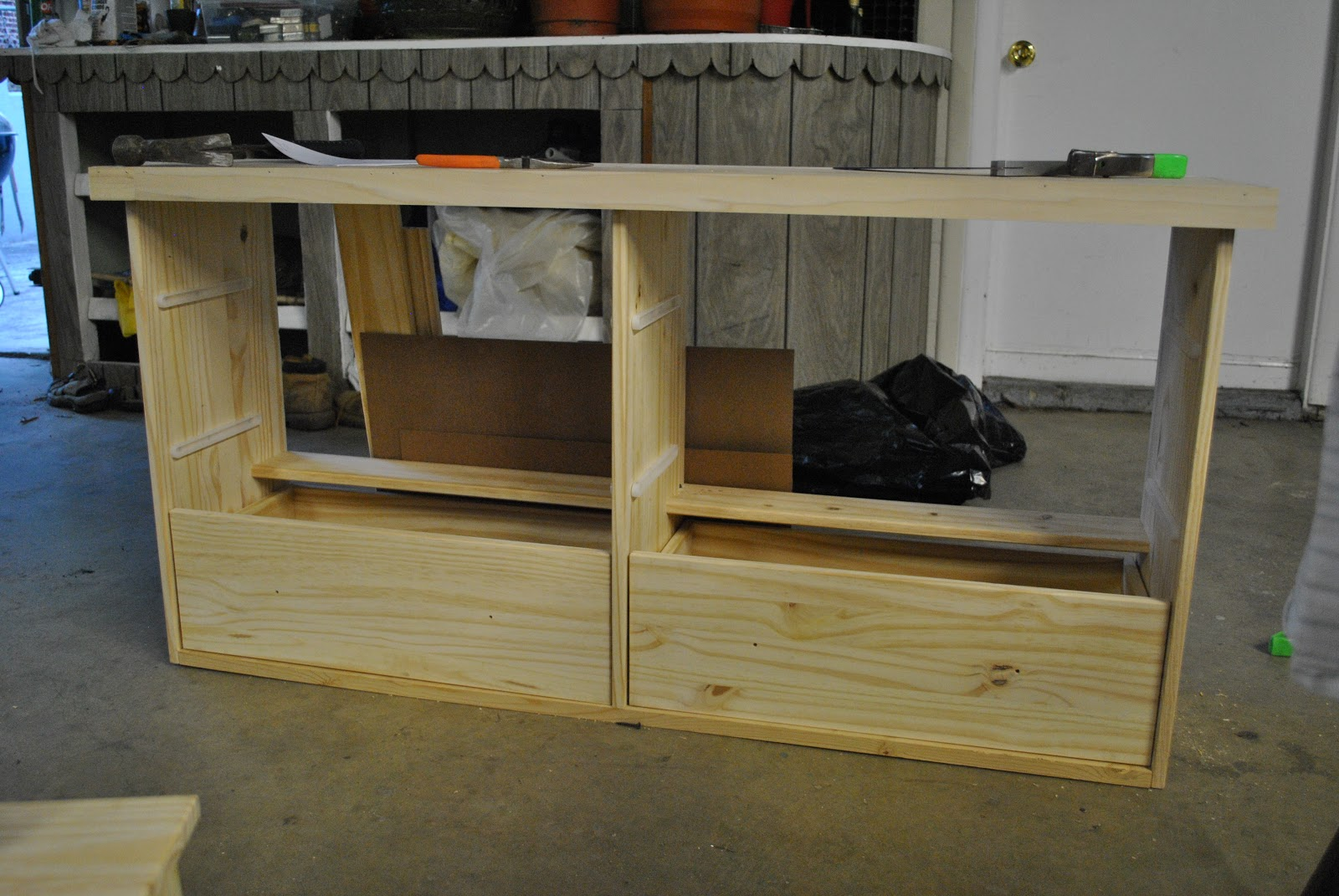 IKEA Rast Dresser turned Sofa Table Shoe Storage IKEA Hackers