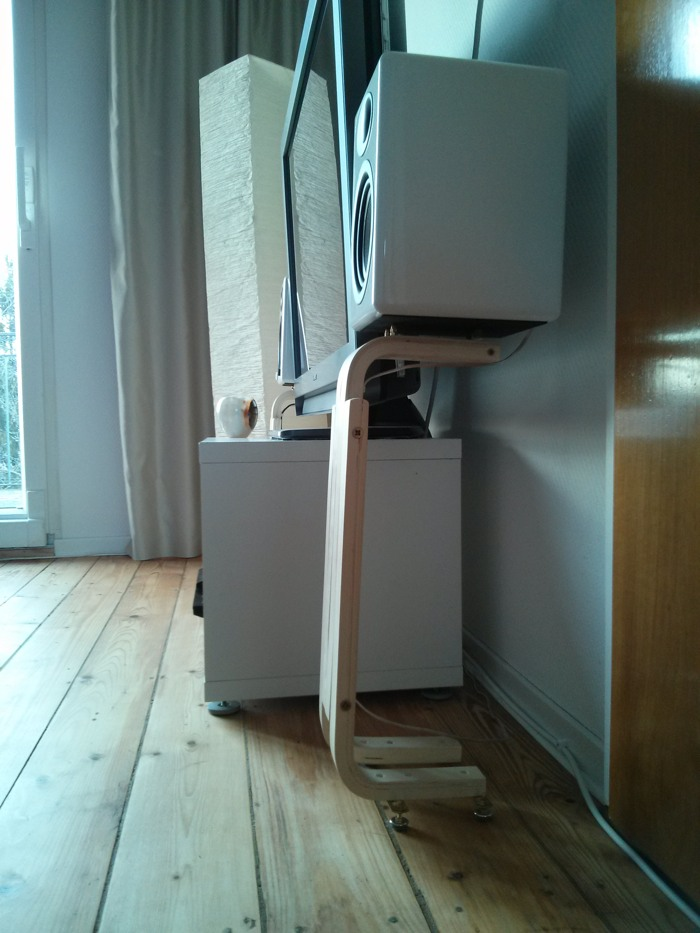 To Get A Total Height Of Approximately 52cm 205inches I Offset The Outer Legs By 7cm 275inches Because Soft Wood Floor In Our Apartment Did