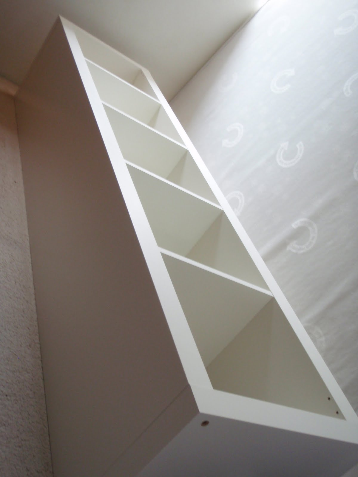 expedit re-purposed as bed frame for maximum storage - ikea