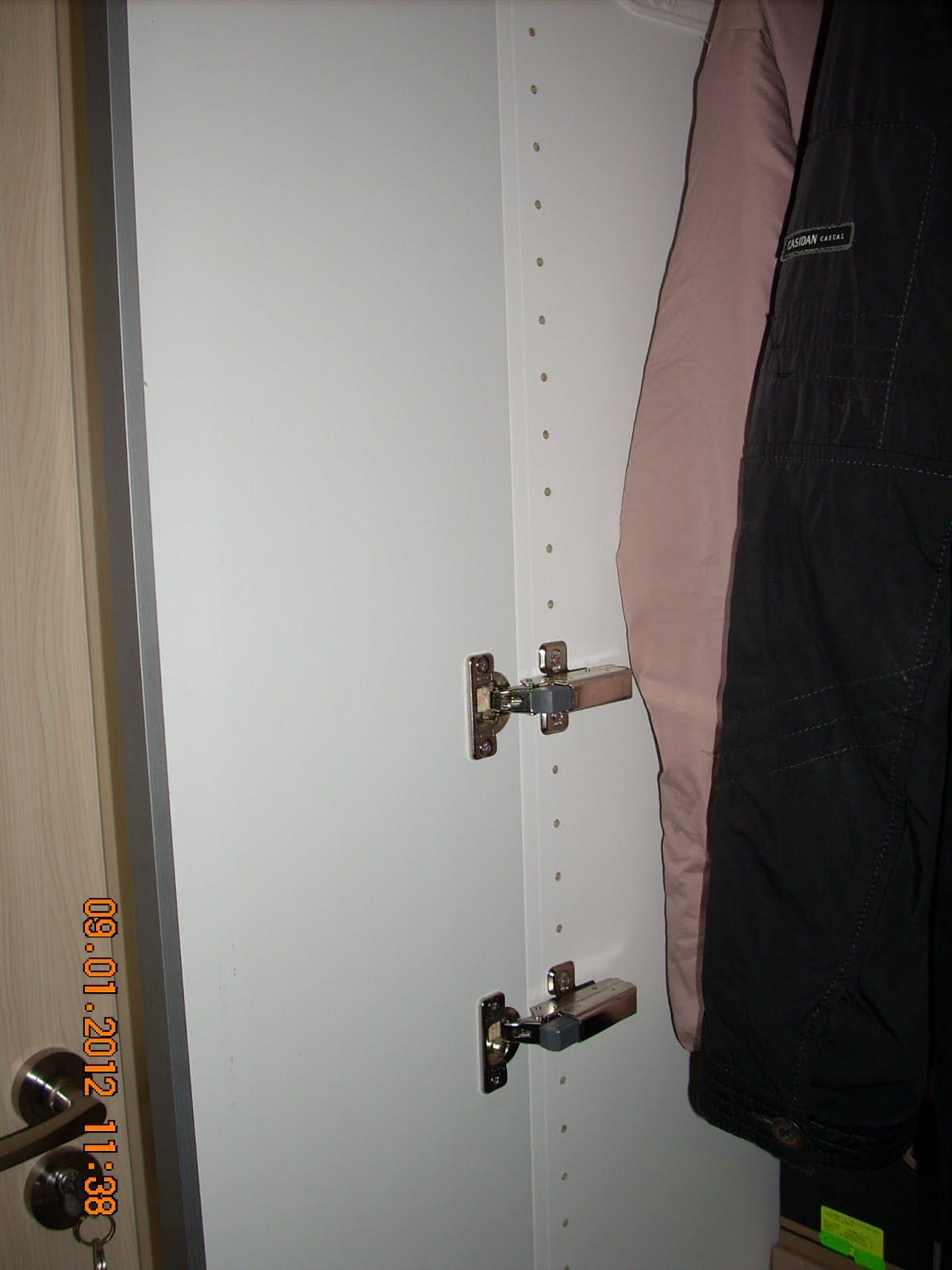 How-to: Change Pax sliding door to hinge door - IKEA Hackers