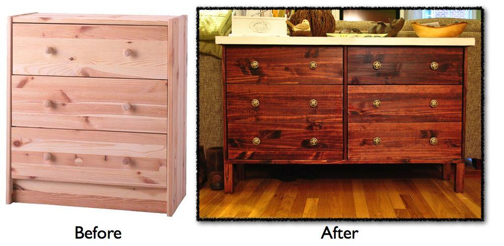 ikea rast dresser turned sofa table shoe storage