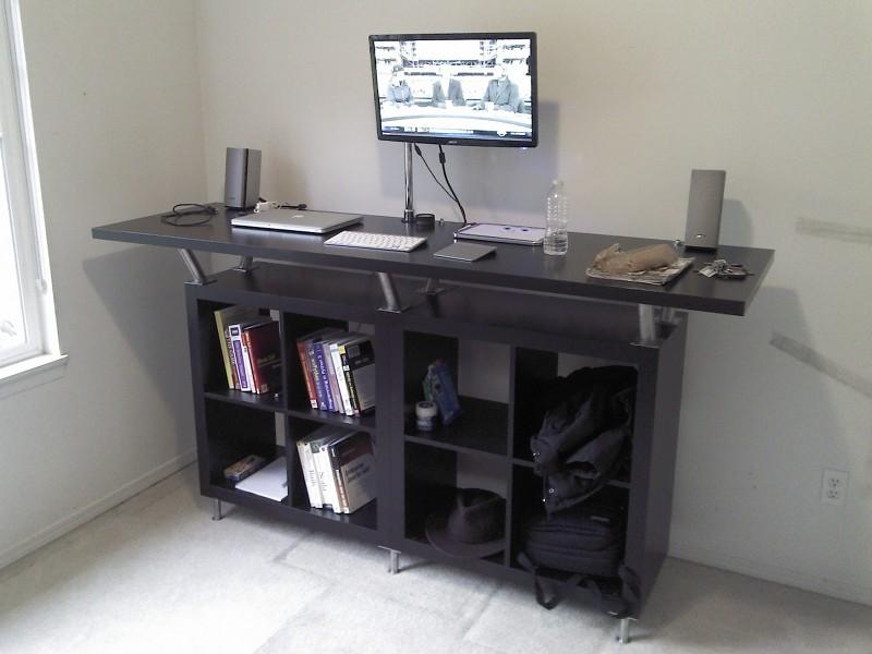 Large Standing Desk for 200$ - IKEA Hackers - IKEA Hackers