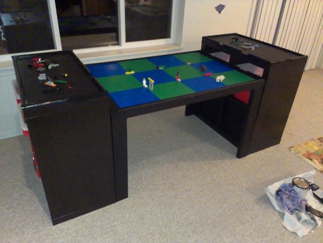 Large lego workspace from ikea parts ikea hackers ikea - Ikea trofast lego table ...