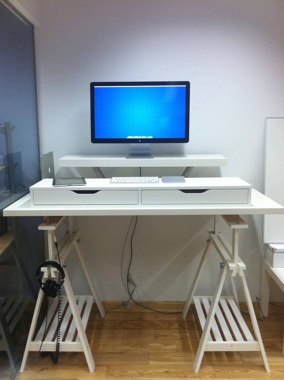 corner amp extra tall standing desks ikea hackers ikea