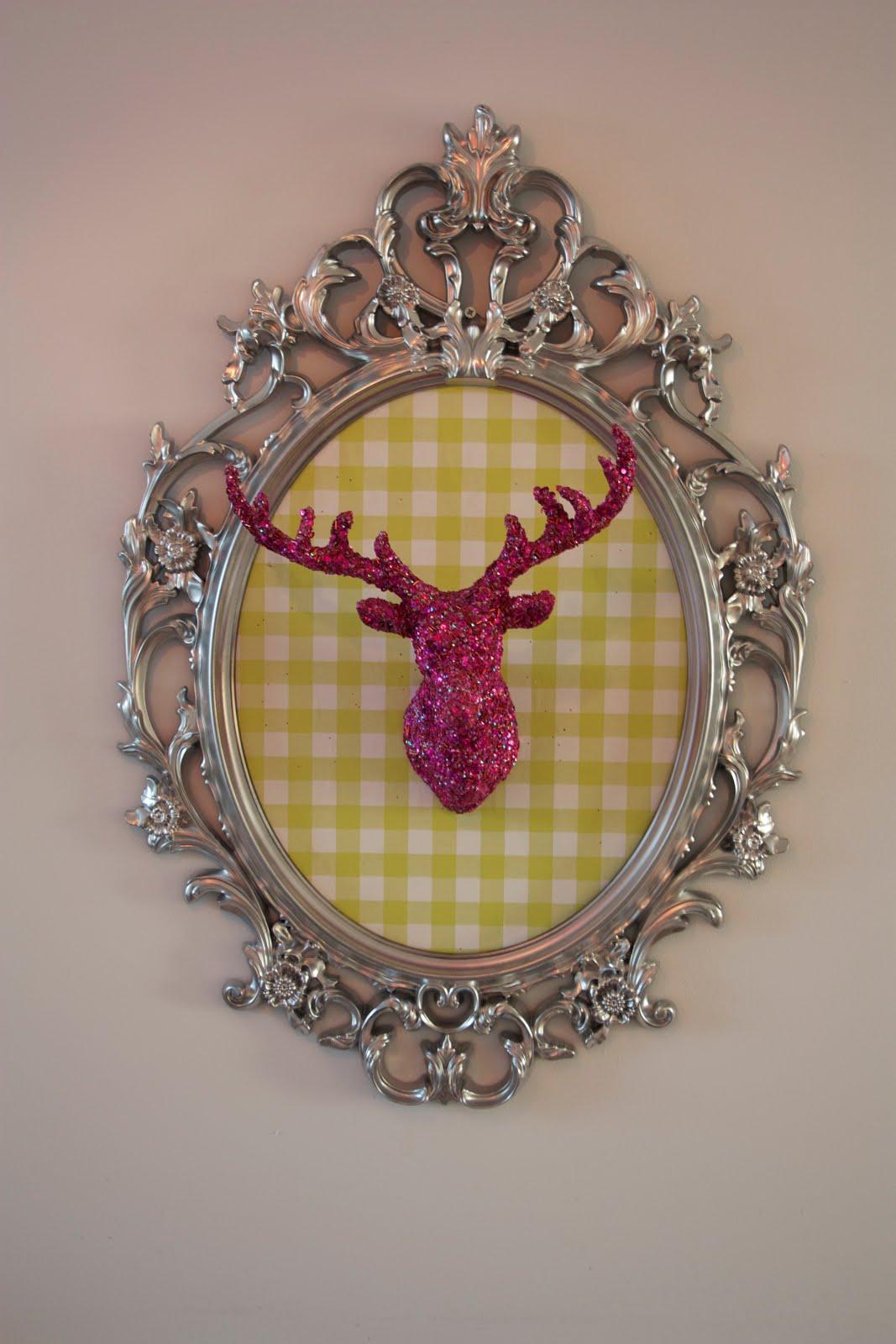 Materials Ung Drill Deer Heat Wallpaper Spray Paint Oval Wooden