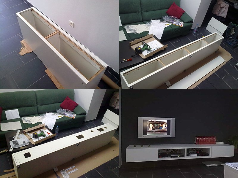 Minimalistic Floating TV Unit - IKEA Hackers - IKEA Hackers