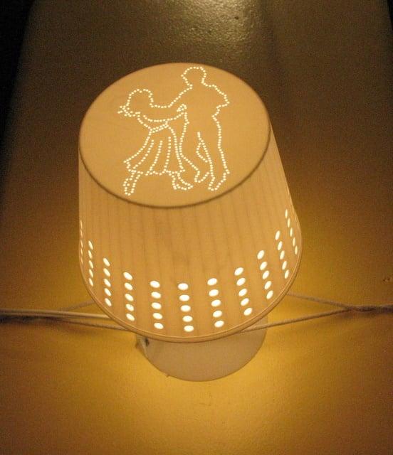 LAMPAN shade drilled