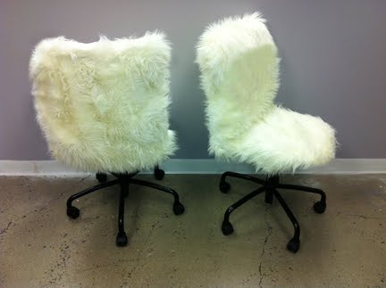 fur desk chairs - ikea hackers - ikea hackers