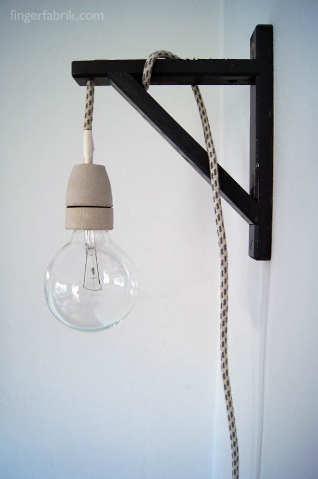 Diy Cable Lamp From A Valter Shelf Holder