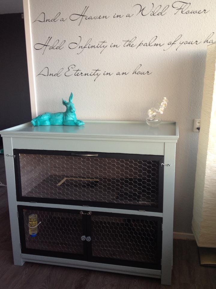 meuble maison pour lapins