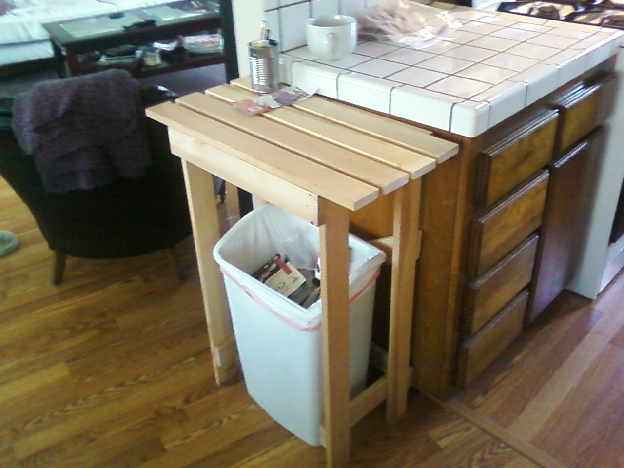 Simple Kitchen Island Simple Kitchen Island From Bed Slats Ikea Hackers Ikea Hackers