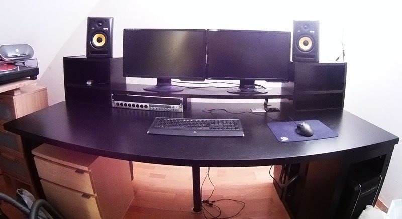 Music Producing Desk IKEA Hackers IKEA Hackers - Cheap diy ikea home studio desk