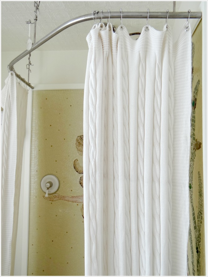 Turn A Throw Blanket Into Shower Curtain