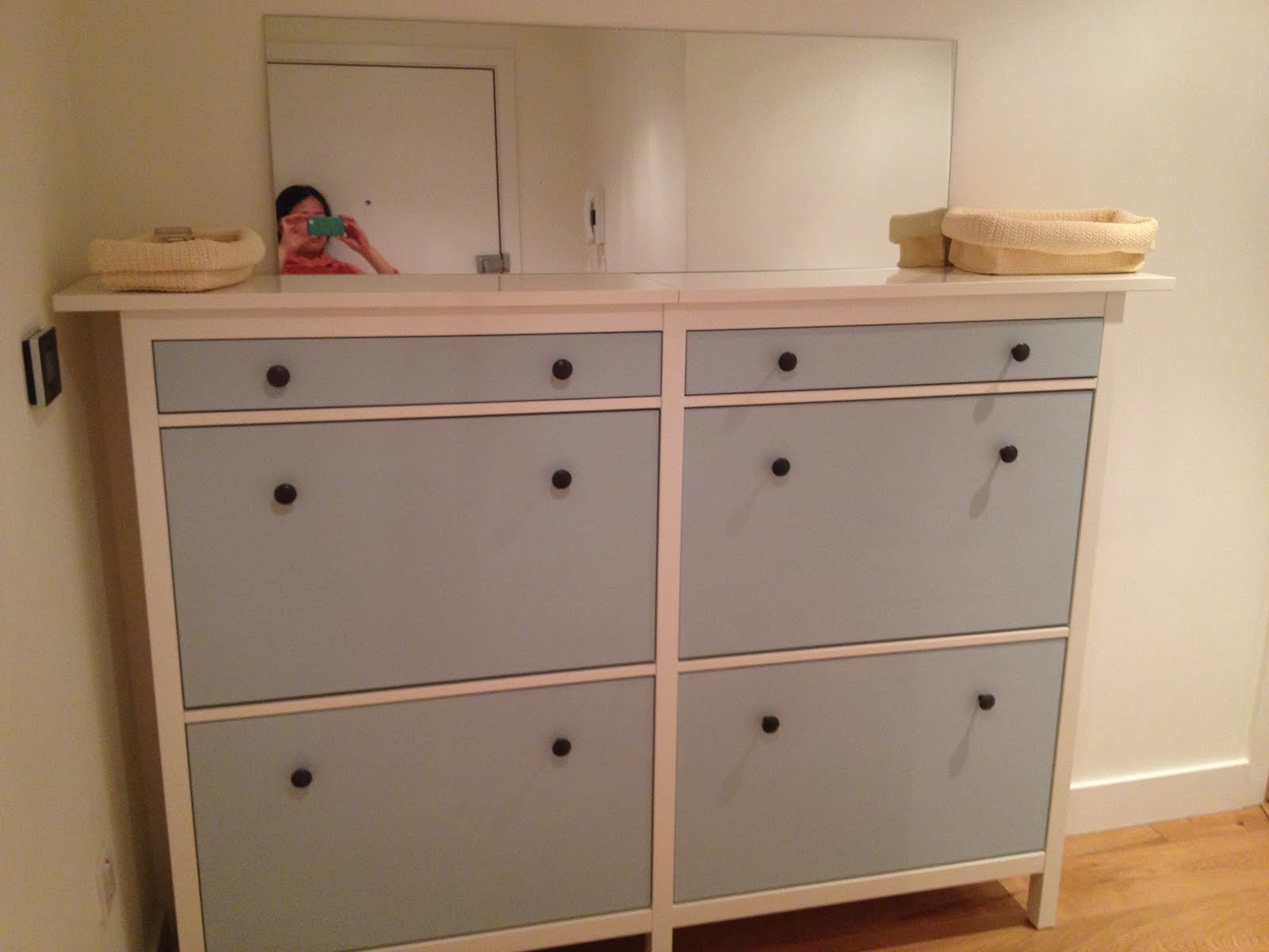 Wedded Hemnes Shoe Cabinets Twined And Painted IKEA Hackers