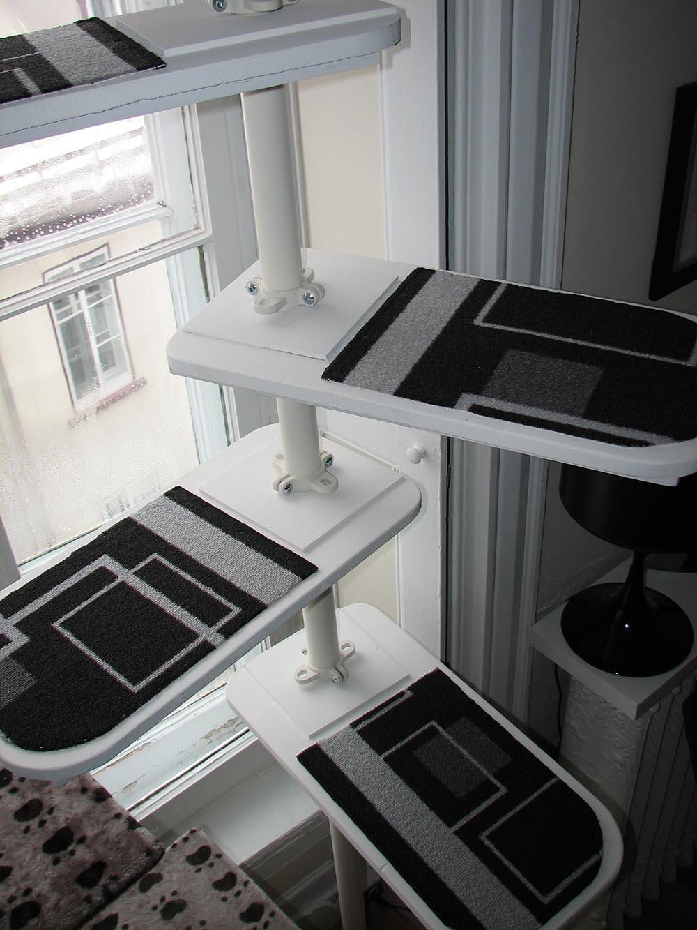 Black and white Stolmen Cat Tree - IKEA Hackers - IKEA Hackers