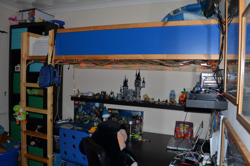 Awesome Kura bed to loft bed hack