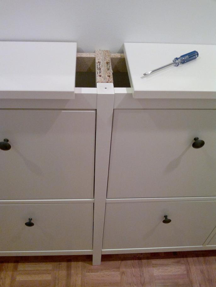 Another twinned Hemnes shoe cabinet - IKEA Hackers - IKEA Hackers