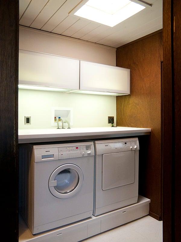Built in bathroom sink - Michael And Iris S Laundry Nook Ikea Hackers Ikea Hackers