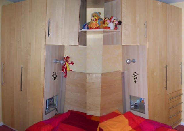 cubby hole bedside table