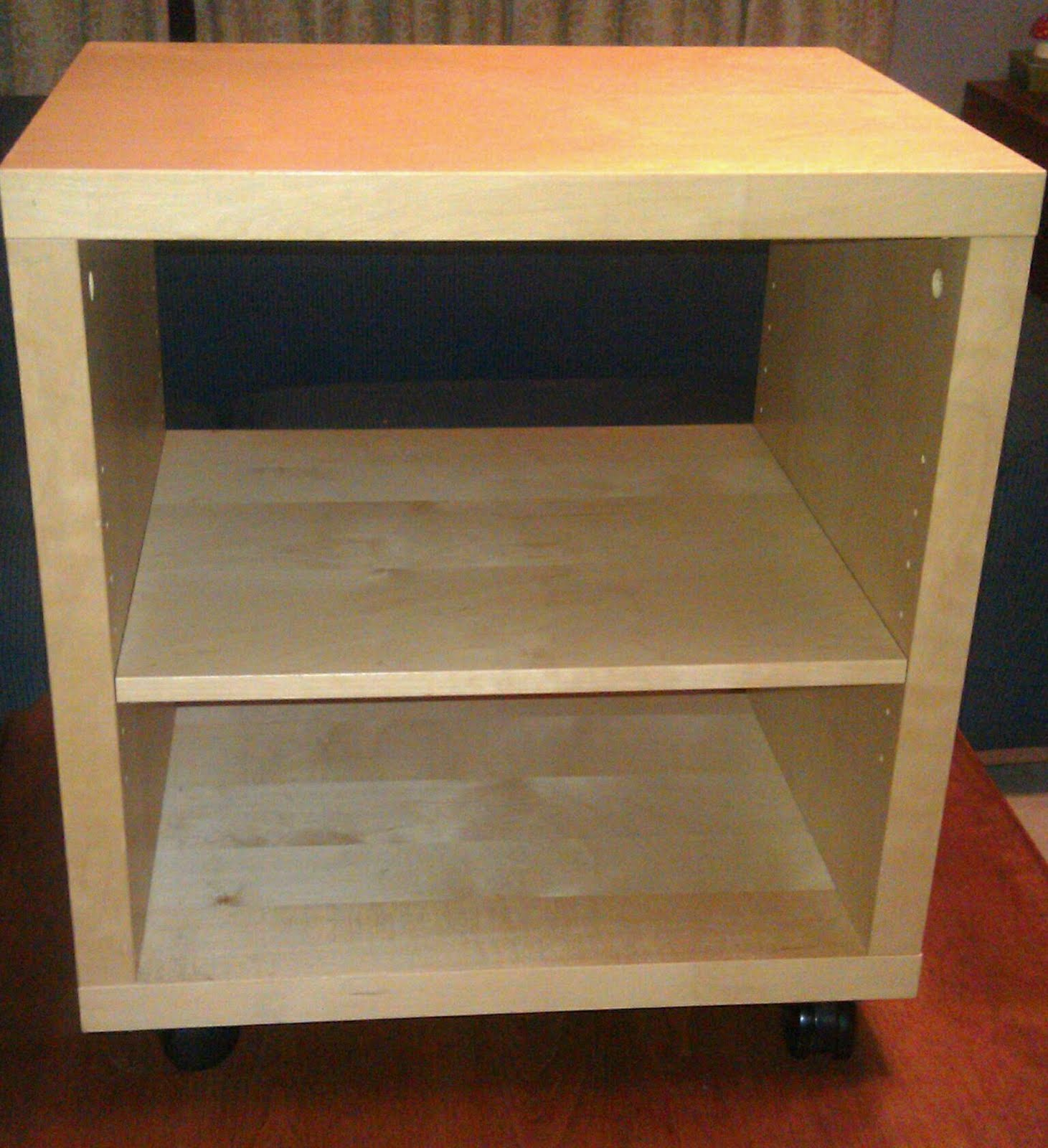 Wooden bedside table design - The Stacker Bedside Table Hack