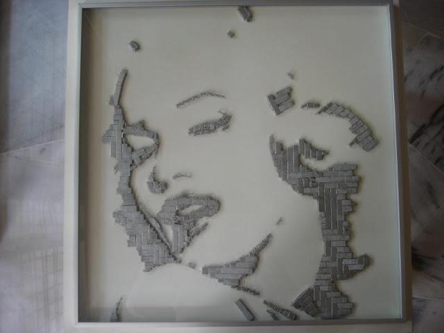 Stapler art on LACK table