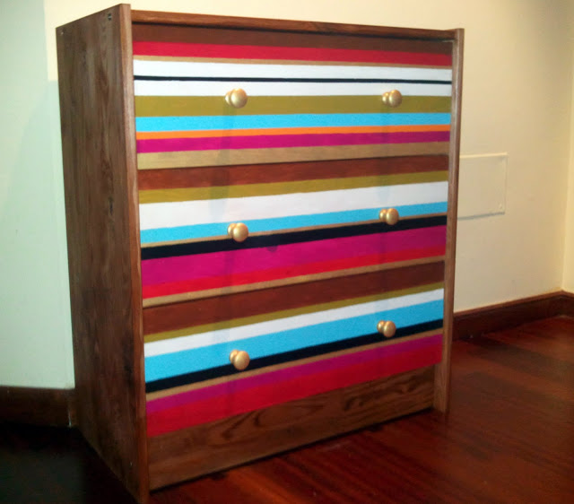 IKEA RAST hack - stripes